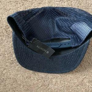 6fd91ff1652 Nixon Accessories - NEW Nixon Iconed Trucker Mens Hat Cap Navy Blue